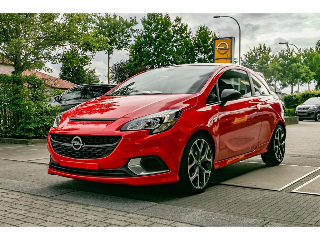 Tweedehands te koop: Opel Corsa Rood - GSI 14 Turbo 150pk - Recaro Lederen sportzetels - Navi - Parkeersens