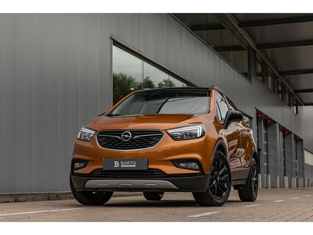 Tweedehands te koop: Opel Mokka X Oranje - 14Turbo 140pkBlack EditionNaviParkeersens vaAirco