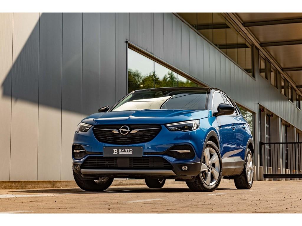 Tweedehands te koop: Opel Grandland X Blauw - 16Benz 180PK AT8Pano DakElektr KofferLEDDodehoek