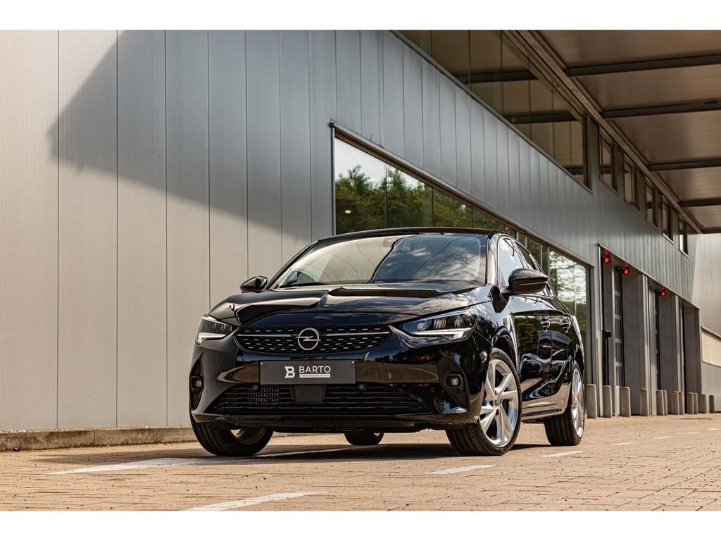 Tweedehands te koop: Opel Corsa Zwart - 12T 100pk ATEleganceAutoAircoNaviParkeersens