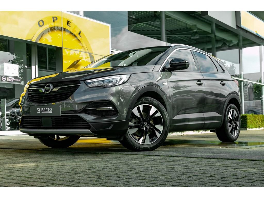 Tweedehands te koop: Opel Grandland X Grijs - 12 Turbo InnovationInnovationCameraDodehoekElektr Koffer
