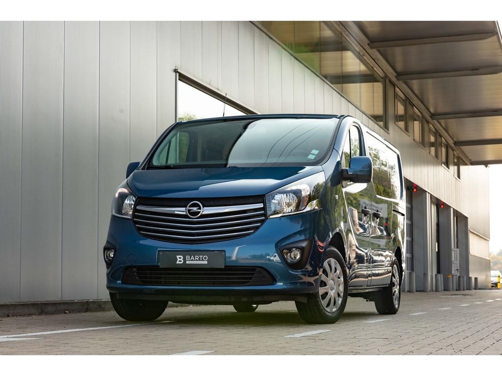 Tweedehands te koop: Opel Vivaro Blauw - 16d 125pkDubbel CabineLederAuto AircoCameraParkeersens