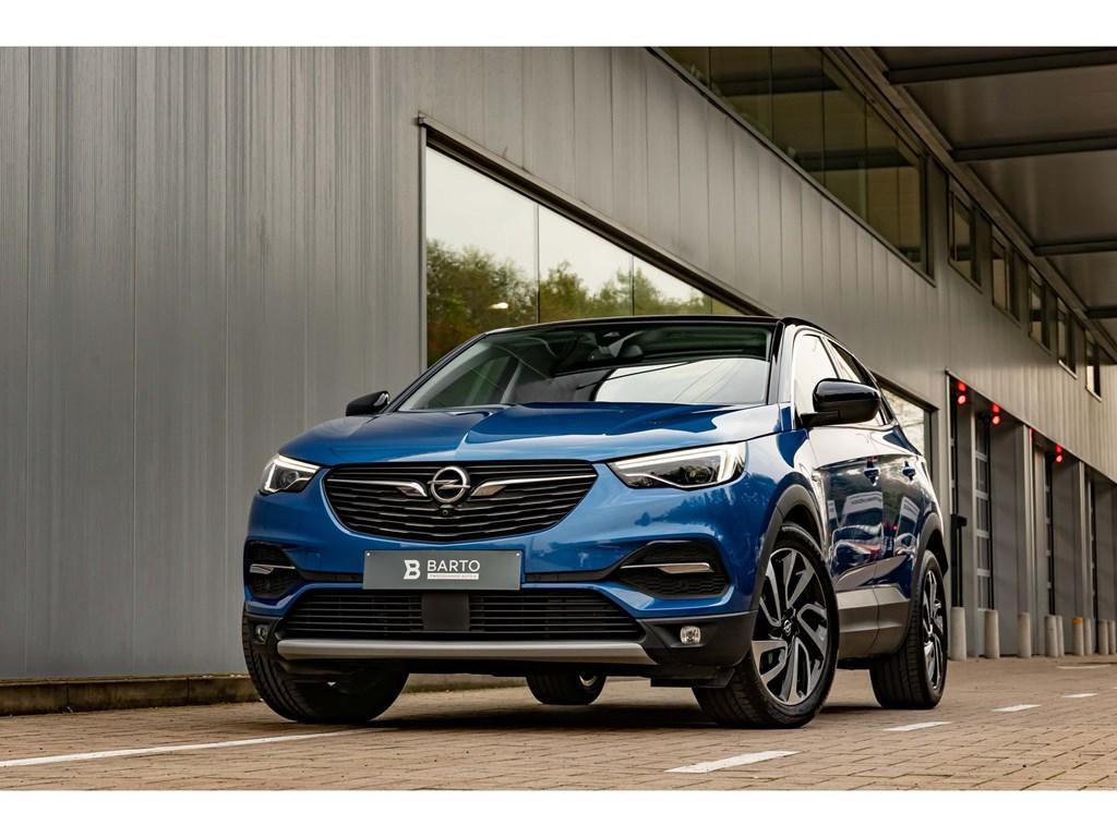 Tweedehands te koop: Opel Grandland X Blauw - 20d 177pk ATPano DakVolledig lederLEDElektr Koffer2000kg trekverm