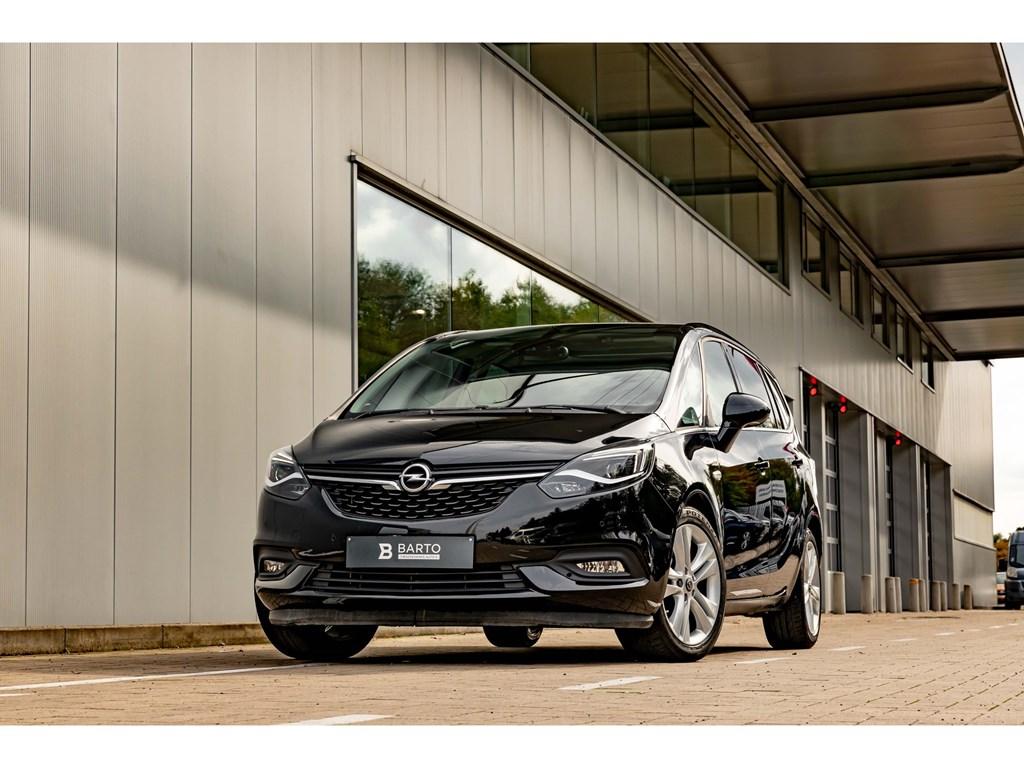 Tweedehands te koop: Opel Zafira Zwart - 16T 136pk AT 7-ZitPano DakLEDZetel- StuurverwCamera