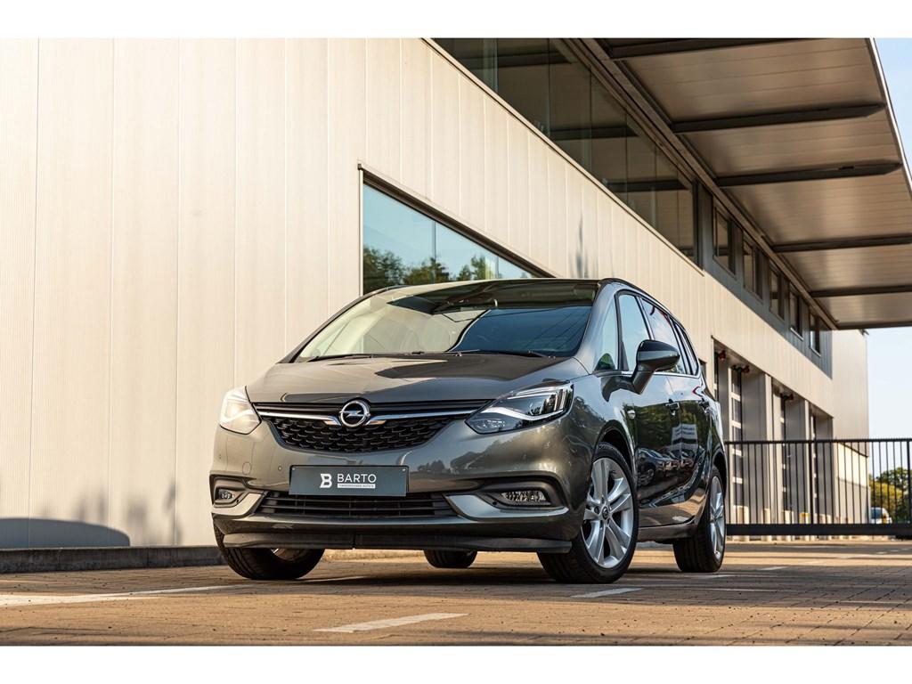 Tweedehands te koop: Opel Zafira Grijs - 16T 136pk AT 7-ZitPano DakLEDZetel- StuurverwCamera