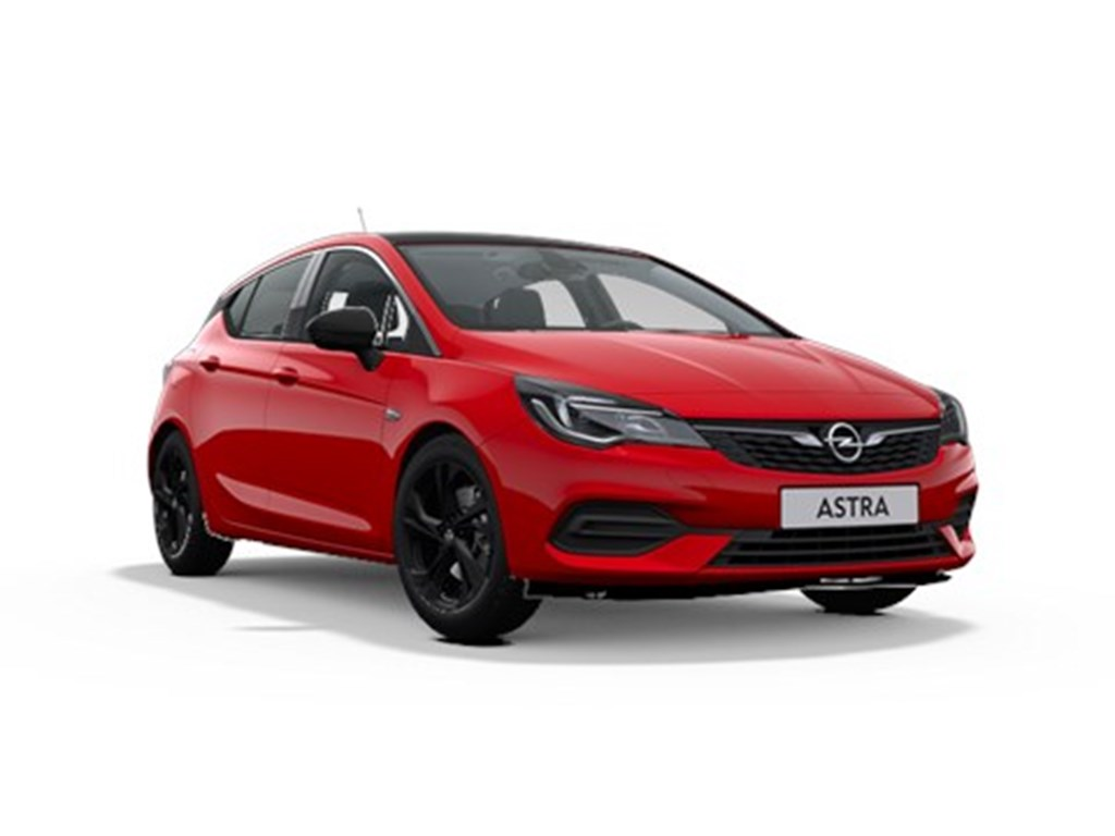 Tweedehands te koop: Opel Astra Rood - 5-Deurs 12 Turbo Benz 110pk SS Manueel 6 - Elegance - Nieuw