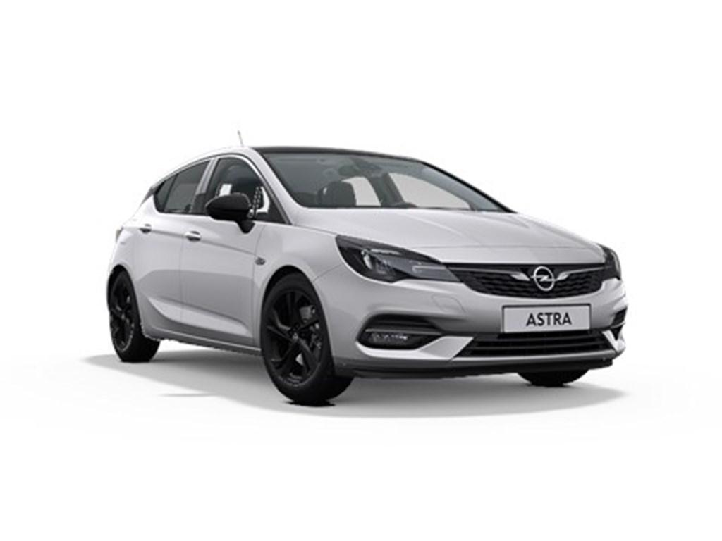 Opel-Astra-Zilver-5-Deurs-12-Turbo-Benz-110pk-SS-Manueel-6-Elegance-Nieuw