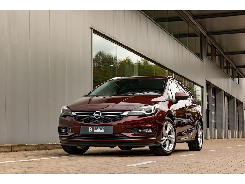 Tweedehands te koop: Opel Astra Rood - 14benzBreakInnovationElektr KofferVolledig LederCameraDodehoeksens