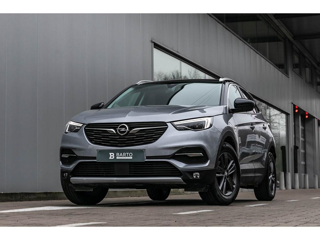 Opel-Grandland-X-Grijs-130PKLEDNaviCameraZwart-dakErgo-zetels