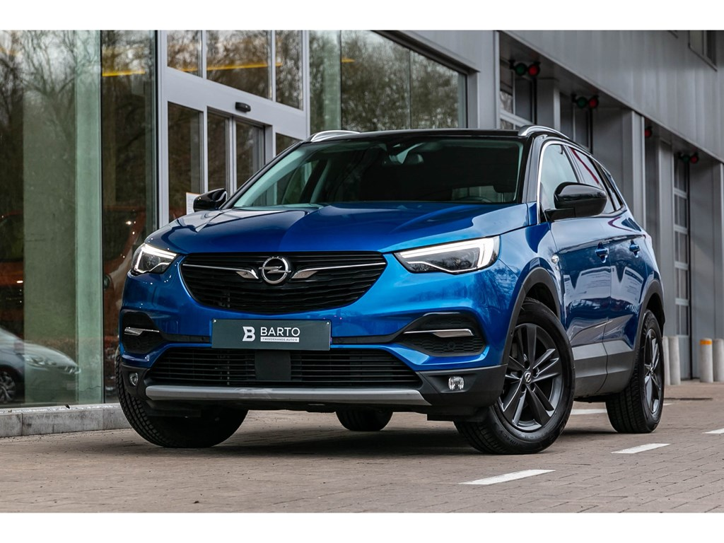 Tweedehands te koop: Opel Grandland X Blauw - 12 Turbo 130PK LEDNaviCameraZwart dakParkeersens