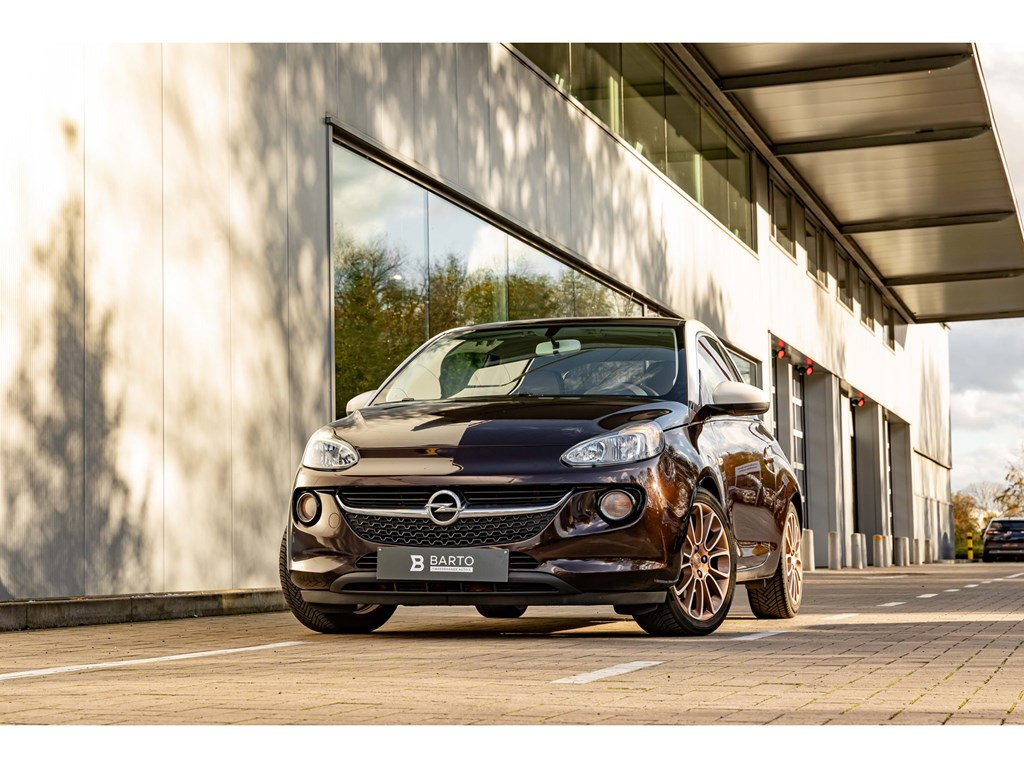 Opel-ADAM-Bruin-10Turbo-115pkPanodakVerwarmde-zetelsParkeersensAuto-Airco