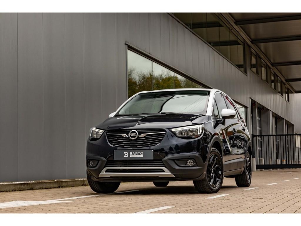 Tweedehands te koop: Opel Crossland X Blauw - 12benz ATCameraDodehoeksensParkeersensAuto Airco