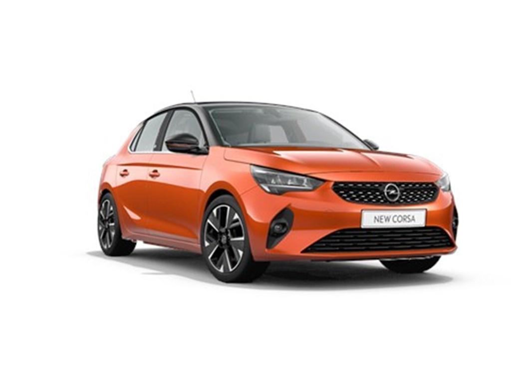 Tweedehands te koop: Opel Corsa Oranje - 5-deurs - e Elegance - Elektrisch Automaat 136pk Nieuw