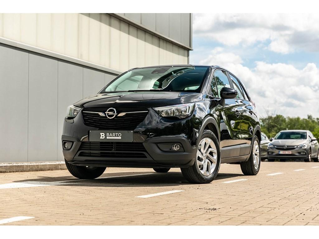 Tweedehands te koop: Opel Crossland X Zwart - 12Turbo 110pkNavigatieParkeersensalu velgen