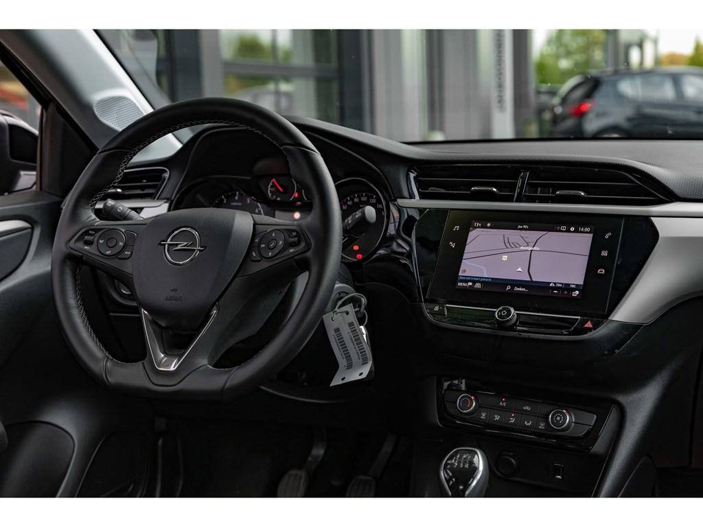 Tweedehands te koop: Opel Corsa Zwart - 12benzNaviParkeersensAircoOfflaneAuto Lichten