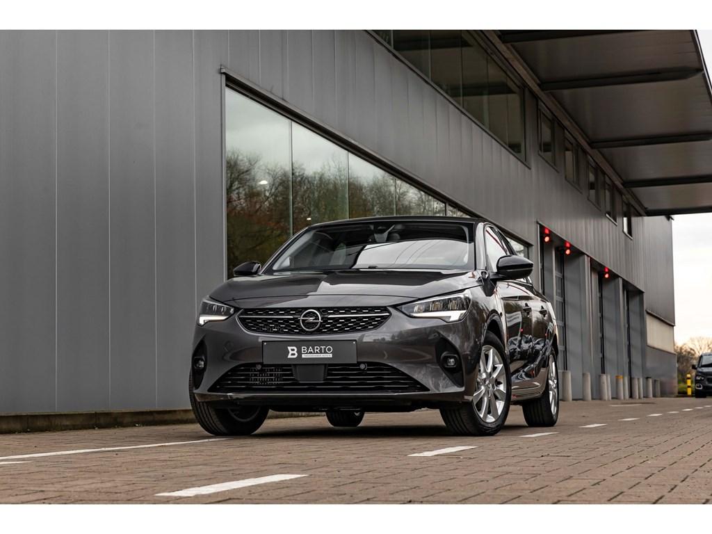 Tweedehands te koop: Opel Corsa Zwart - 12T 100pkEleganceCameraDigitaal DashboardParkeersens vaDodehoekAuto Airco