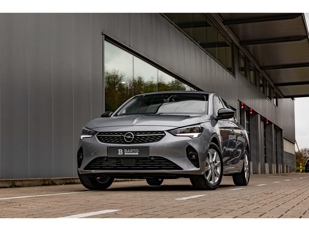Opel-Corsa-Grijs-12T-100pkEleganceCameraDigitaal-DashboardParkeersens-vaDodehoekAuto-Airco