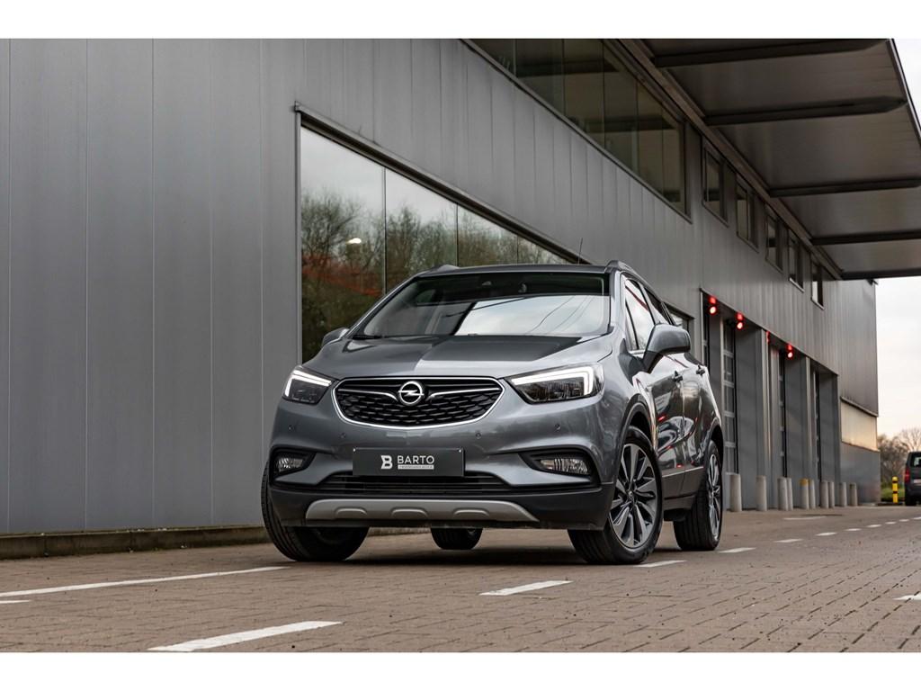 Opel-Mokka-X-Grijs-14T-Benz-140pkCameraLEDMatrixOfflaneParkeersens-vaAuto-Airco