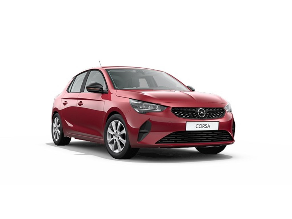 Tweedehands te koop: Opel Corsa Rood - 5-deurs Edition 12 Turbo benz 100pk Automaat 8 StartStop - Nieuw