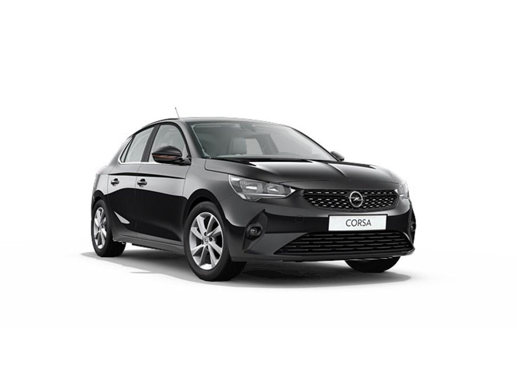 Tweedehands te koop: Opel Corsa Zwart - 5-deurs Elegance 12 Turbo Benz Manueel 6 StartStop - 100pk - Nieuw