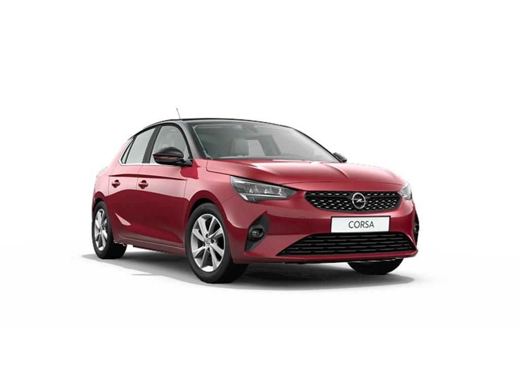 Tweedehands te koop: Opel Corsa Rood - 5-deurs Elegance 12 Turbo Benz Automaat 8 StartStop - 100pk - Nieuw