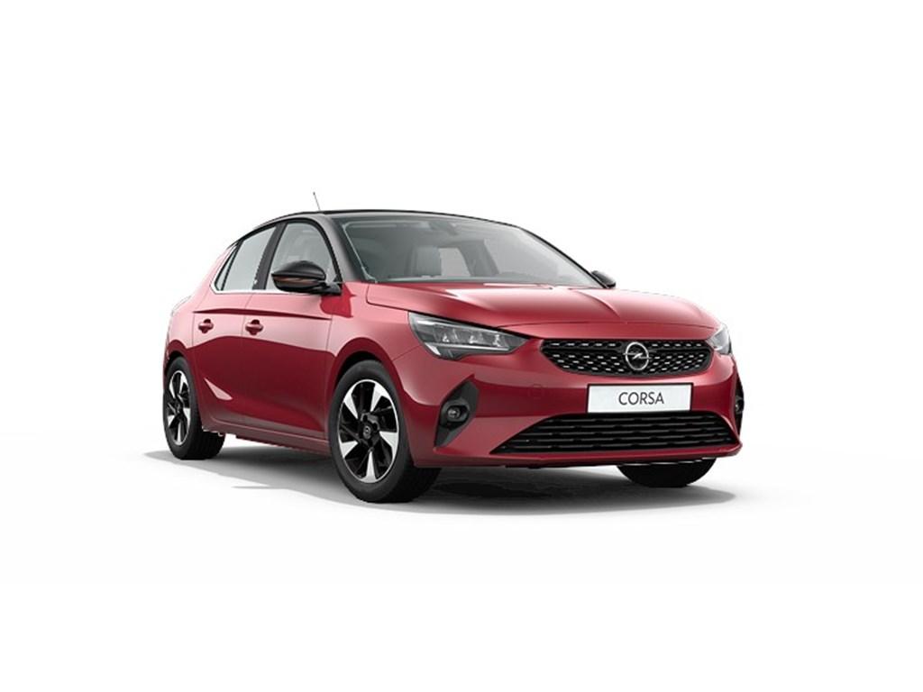 Tweedehands te koop: Opel Corsa Rood - 5-deurs - e Elegance - Elektrisch Automaat 136pk 100kw with 50kw Battery Nieuw