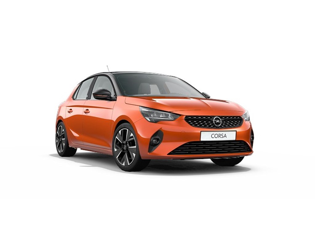 Tweedehands te koop: Opel Corsa Oranje - 5-deurs - e GS Line - Elektrisch Automaat 136pk 100kw with 50kw Battery Nieuw