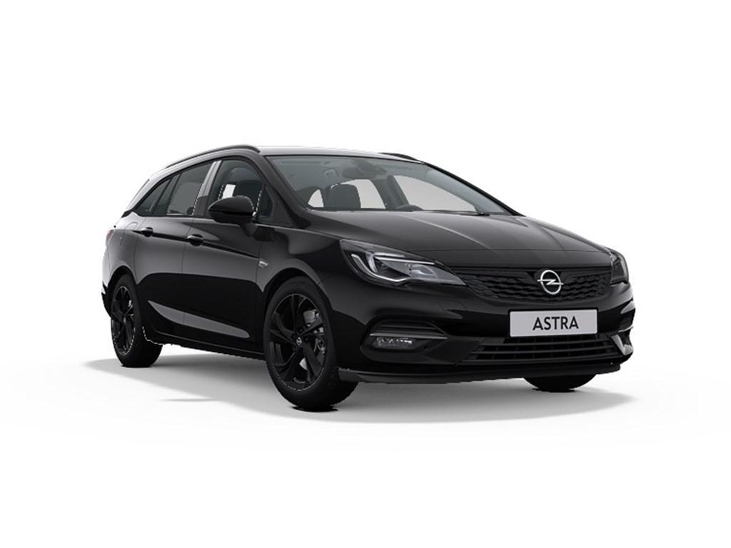 Tweedehands te koop: Opel Astra Zwart - Sports Tourer Ultimate 15 Turbo D 122pk SS Manueel 6 - Nieuw