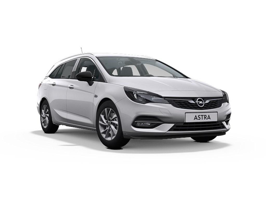 Tweedehands te koop: Opel Astra Zilver - Sports Tourer Elegance 12 Turbo Benz 110pk SS Manueel 6 - Nieuw