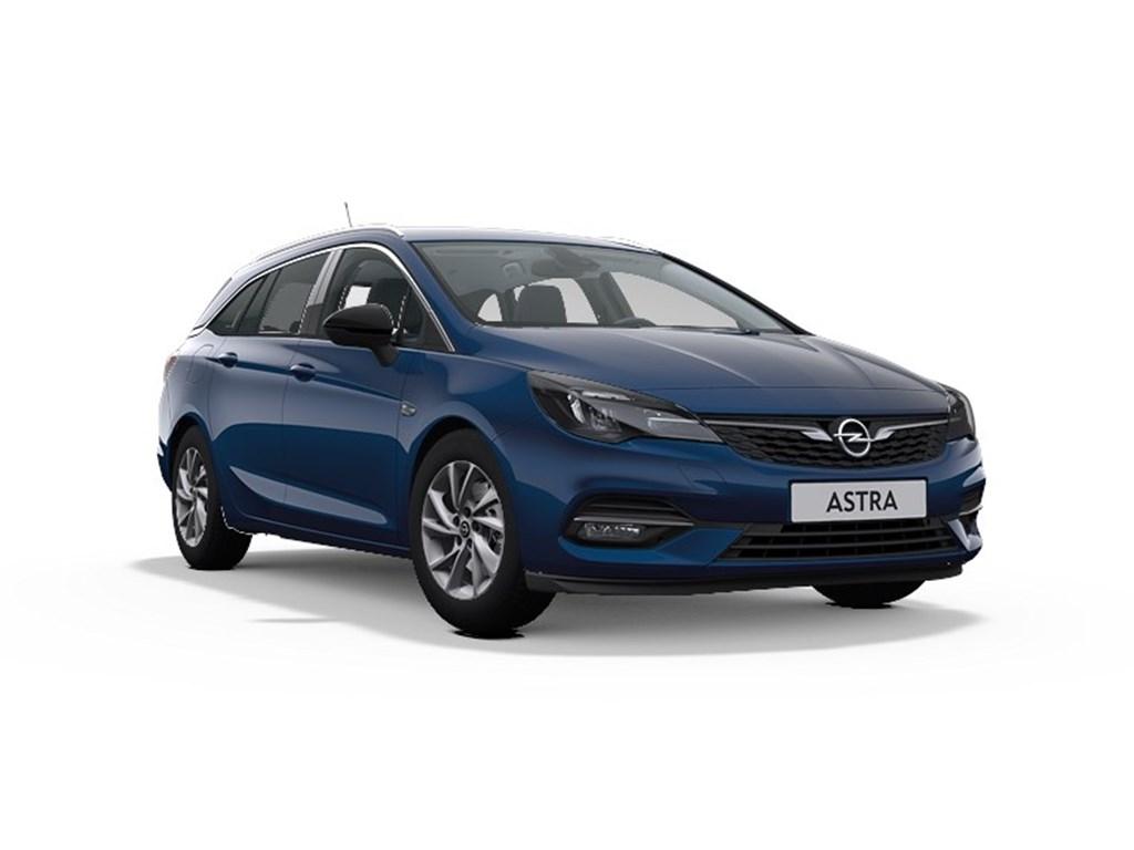 Tweedehands te koop: Opel Astra Blauw - Sports Tourer Elegance 12 Turbo Benz 110pk SS Manueel 6 - Nieuw