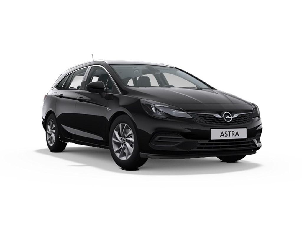 Tweedehands te koop: Opel Astra Zwart - Sports Tourer Elegance 12 Turbo Benz 110pk SS Manueel 6 - Nieuw