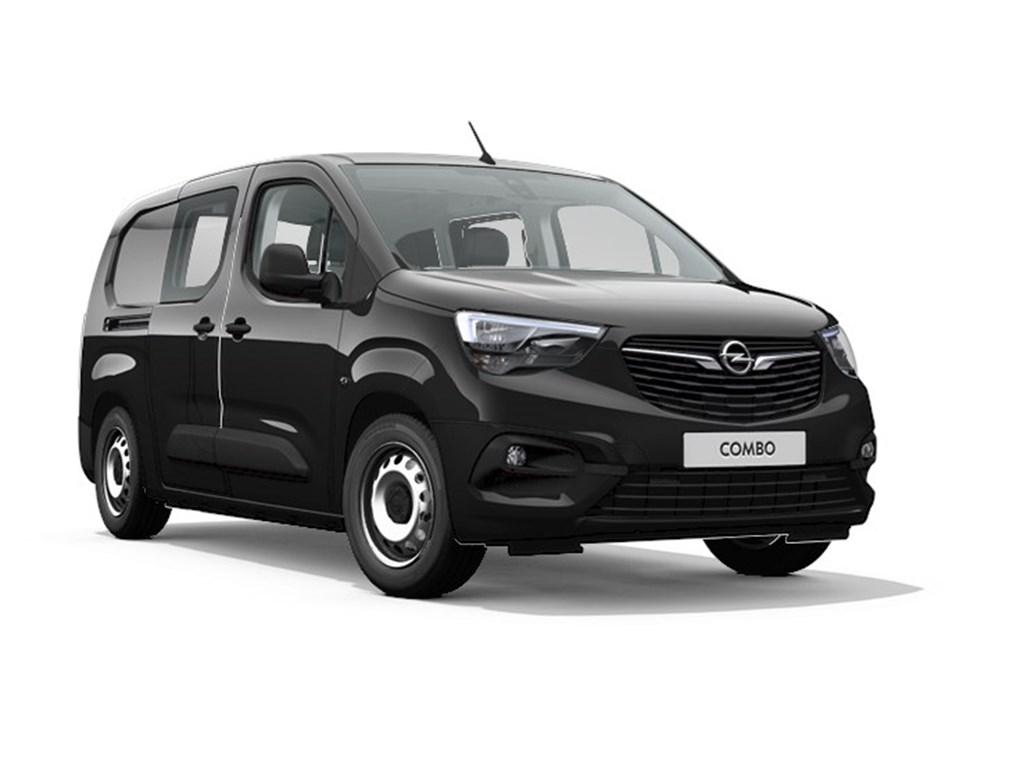 Opel-Combo-Zwart-Dubbele-Cabine-L2H1-12-Turbo-benz-Manueel-6-StartStop-110pk-81kw-Nieuw