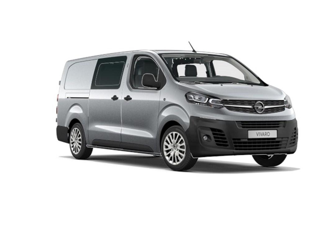 Opel-Vivaro-Grijs-Dubbele-Cabine-Edition-L3H1-Verhoogd-Laadvermogen-20-Turbo-D-122pk-5pl-Nieuw-