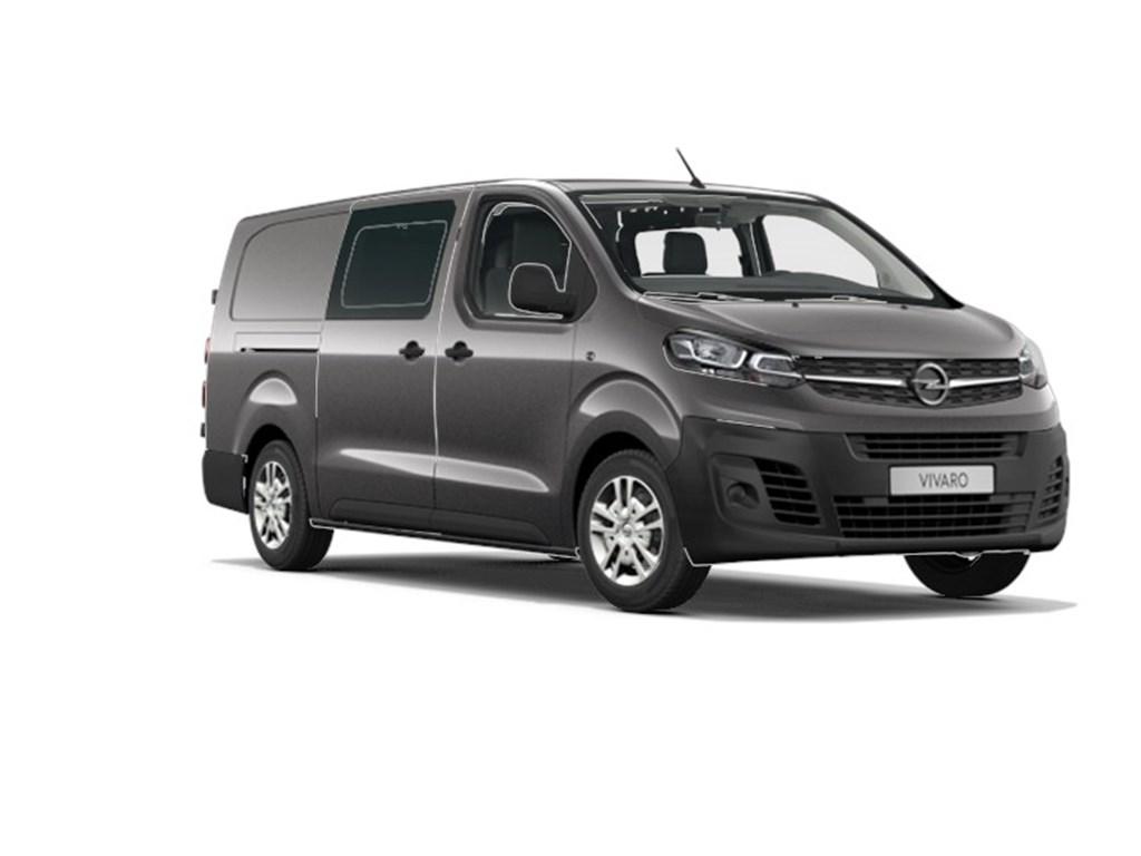 Opel-Vivaro-Grijs-Dubbele-Cabine-Edition-L3H1-Verhoogd-Laadvermogen-20-Turbo-D-122pk-MT6-6pl-Nieuw-