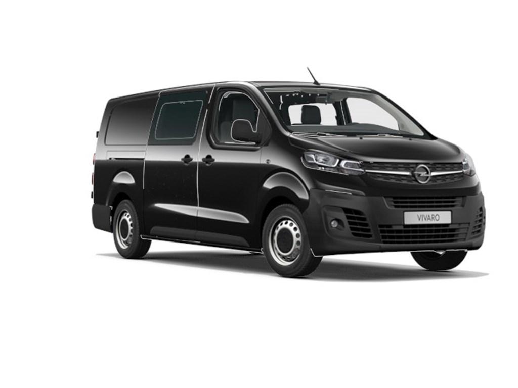 Tweedehands te koop: Opel Vivaro Zwart - Dubbele Cabine Edition L3H1 Verhoogd Laadvermogen 20 Turbo D 122pk AT8 - 6pl - Nieuw