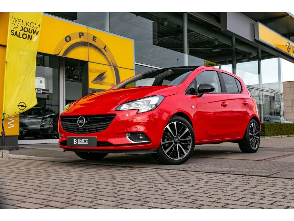 Tweedehands te koop: Opel Corsa Rood - 14 Benz 90pkBlack EditionParkeersensCameraAirco