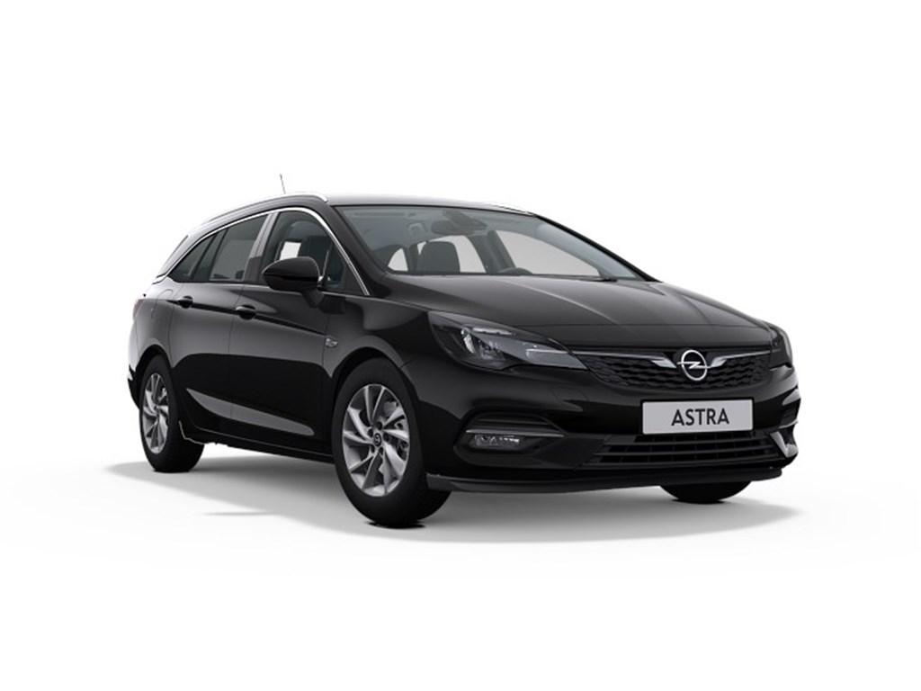 Tweedehands te koop: Opel Astra Zwart - Sports Tourer 15 Turbo D Diesel 122pk SS Manueel 6 - Elegance - Nieuw