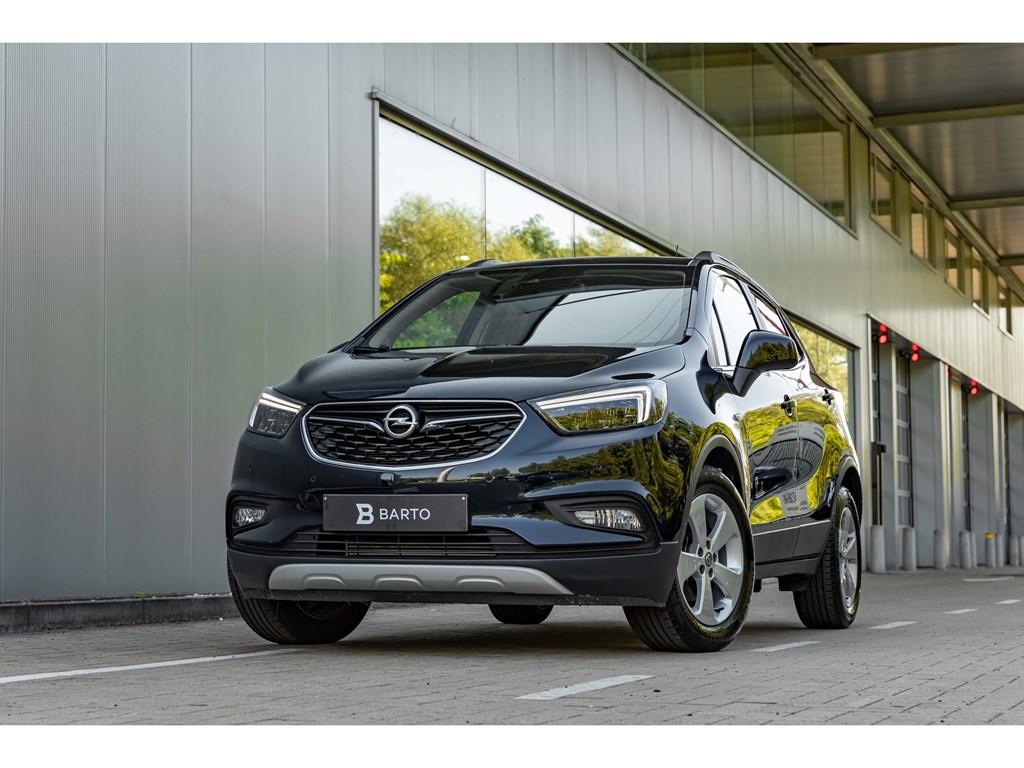 Opel-Mokka-X-Blauw-14T-Benz-140pkCameraLEDMatrixOfflaneParkeersens-vaAuto-Airco