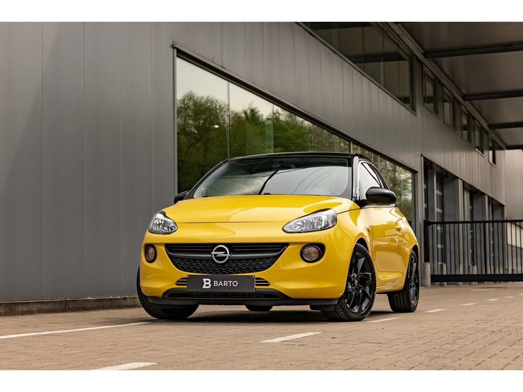 Tweedehands te koop: Opel Adam Geel - 10 Turbo 90pkAdam SlamAuto AircoBlack Gloss Alu velg