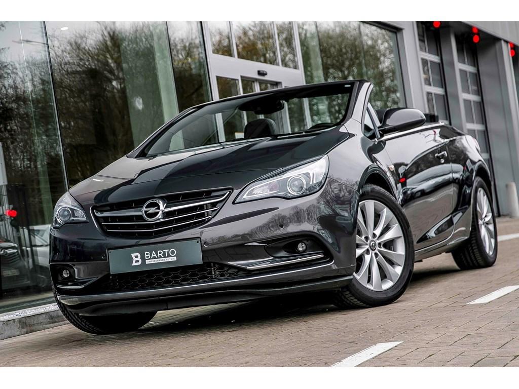 Opel-Cascada-Grijs-14-Turbo140pk-Cosmo-Ergon-Leder-zetels-Weinig-Kms