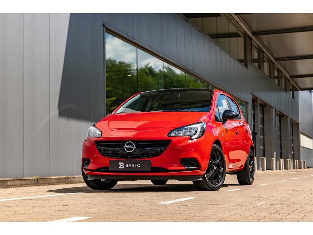 Tweedehands te koop: Opel Corsa Rood - 10TurboBlack EditionNaviAirco