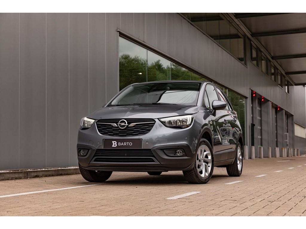 Opel-Crossland-X-Grijs-12Benz-110pkTrekhaakParkeersensCameraDodehoeksens