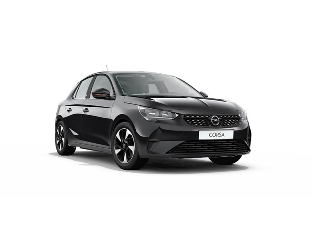 Tweedehands te koop: Opel Corsa Zwart - 5-deurs - e Edition - Elektrisch Automaat 136pk 100kw with 50kw Battery Nieuw