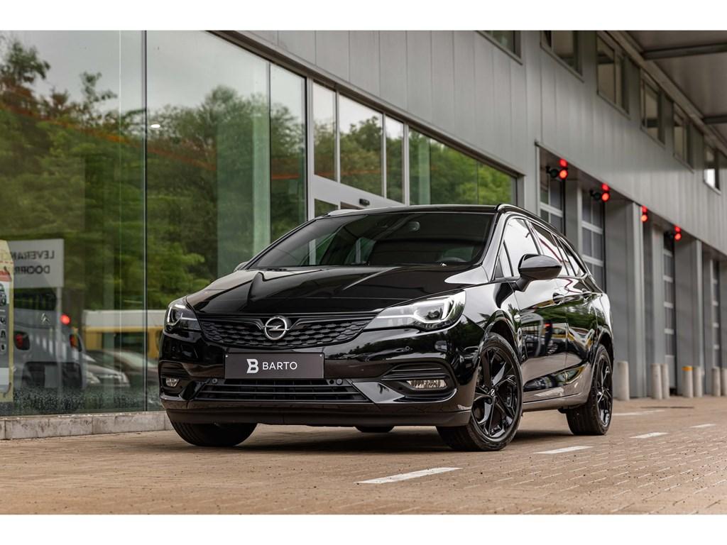 Tweedehands te koop: Opel Astra Zwart - Sports Tourer Ultimate 15 Turbo D 122pk - Full BlackNavi ProCameraWeinig Kms
