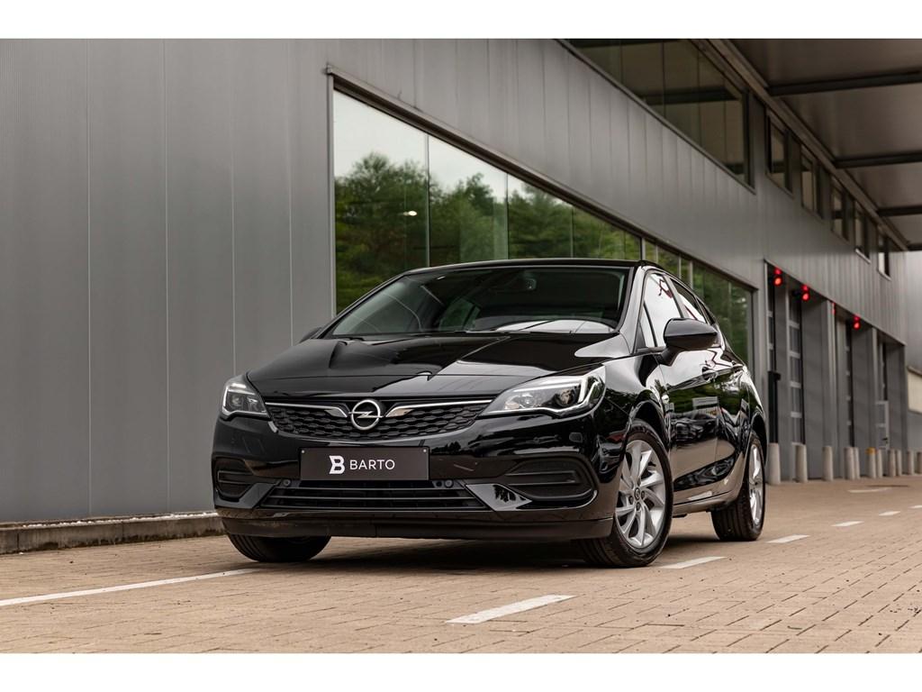 Tweedehands te koop: Opel Astra Zwart - 12Turbo BenzAircoParkeersens vaNavi